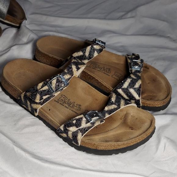 Birkinstock animal print sandals